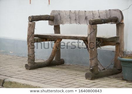relaxante · banco · parque · árvore · primavera - foto stock © photochecker