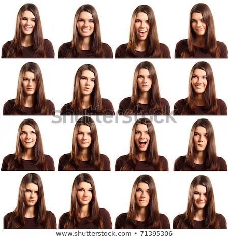 лице · изолированный · белый · девушки · подростков · страхом - Сток-фото © dacasdo