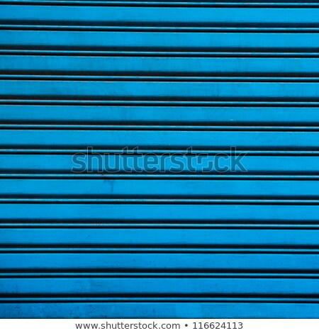 Blauw geschilderd staal sluiter magazijn abstract Stockfoto © Snapshot