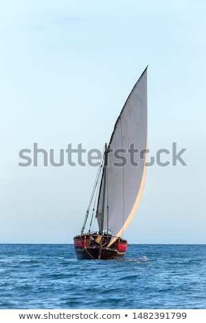 Dhow Sail Boat Rigging In Zanzibar  Stock photo © albund
