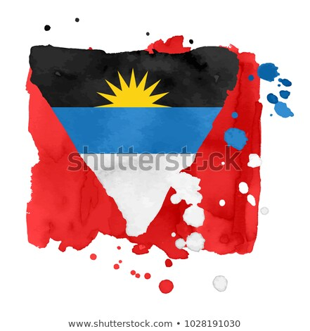 handdrawn flag of antigua barbuda stock photo © claudiodivizia