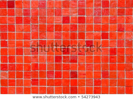 Red Tiled Glass Stock photo © ryhor