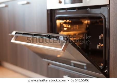 старые · белый · металл · печи · кухне · Чешская · республика - Сток-фото © srnr