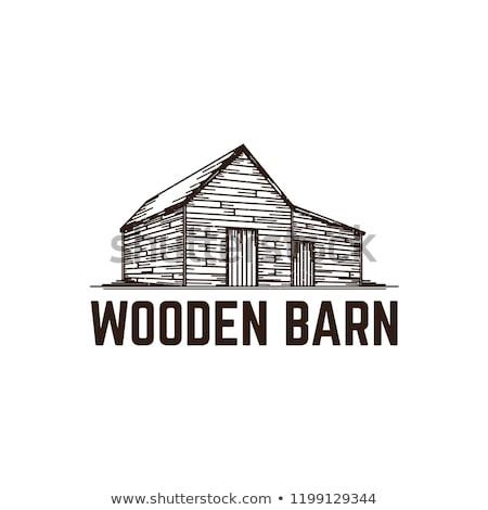 old wooden barn stock photo © hofmeester