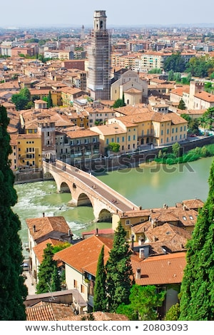 Verona Panoramic View From The Hill Foto d'archivio © Sailorr