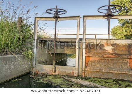 lifting gear of irrigation ditch headgate  Stock photo © PixelsAway