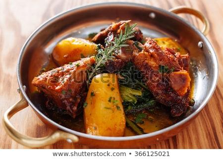 伝統的な 食品 表 レストラン 魚 白 ストックフォト © aetb