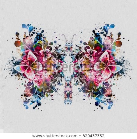 yapay · gelinler · çiçekler · buket · kırmızı · beyaz - stok fotoğraf © blanaru