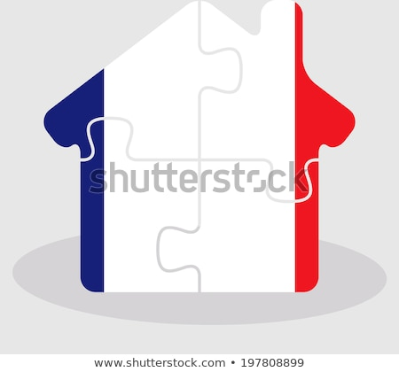 house home icon with french flag in puzzle stock photo © istanbul2009