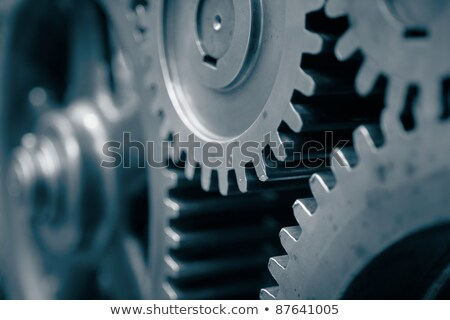 Close-up of cog wheels of a machine Stock photo © bmonteny