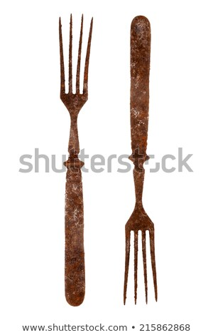 Both sides of an old rusty fork Stock photo © Taigi