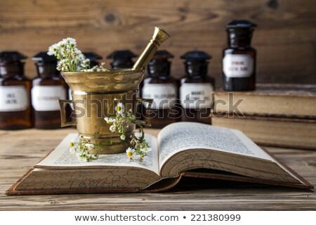 古代 ハーブ 図書 ガラス 青 ストックフォト © BrunoWeltmann