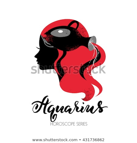 Zodiac horoscope sign Aquarius with a beautiful girl Stock photo © BlueLela