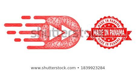 Panama · piros · fóka · üzlet · papír · terv - stock fotó © tashatuvango