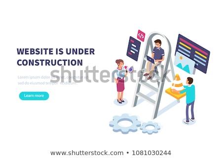 Internetowych budowy kilka kolory pracy Zdjęcia stock © tracer