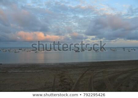 Strand zee Blauw reizen steen kust Stockfoto © tilo