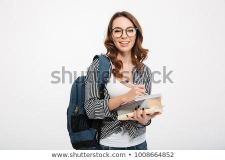 estudante · retrato · bastante · menina · olhando - foto stock © deandrobot