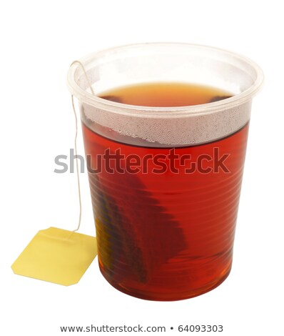 teabag on a plastic cup Stock photo © mikhail_ulyannik