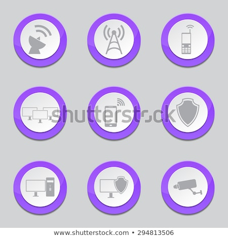 telecom communication violet vector button icon design set stock photo © rizwanali3d
