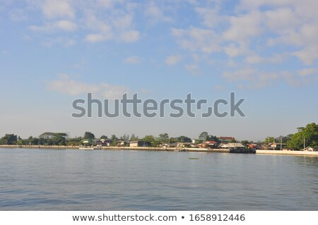 Chao Phraya River is a major river in Thailand, with its low all Stock photo © art9858