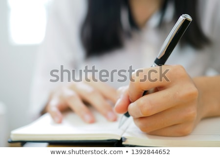sign contract message on desk with coffee stock photo © fuzzbones0
