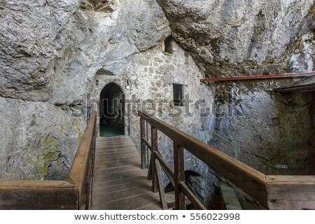 интерьер замок каменные стен дверей Windows Сток-фото © Kayco