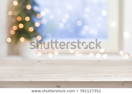 Green Christmas background with white frost Stock photo © Valeriy