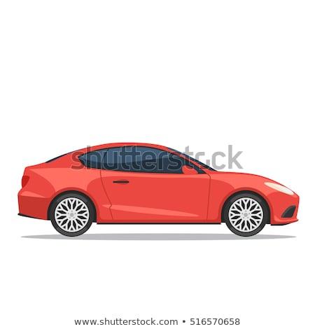 Car Red Vector Icon Design Stock photo © rizwanali3d