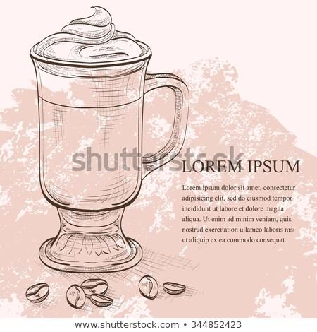ирландский кофе кремом кофе таблице стекла Сток-фото © netkov1