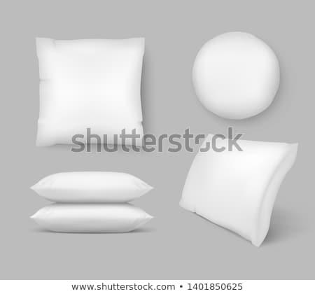 Inflável travesseiro isolado branco praia fundo Foto stock © shutswis