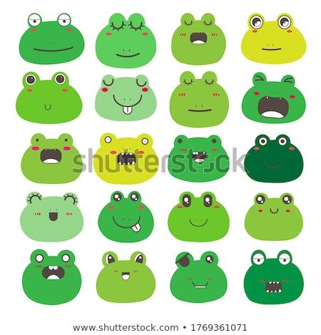 Kurbağa duygu ikon örnek imzalamak dizayn Stok fotoğraf © kiddaikiddee