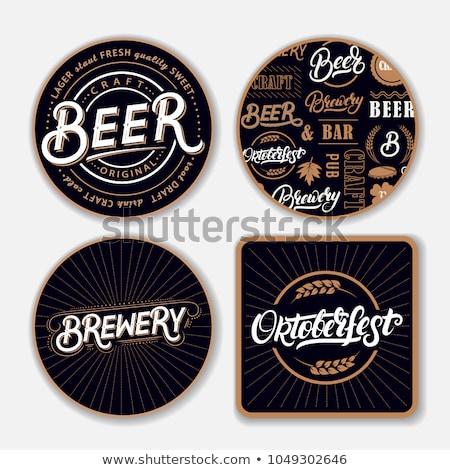 Retro beer coasters Stock photo © sahua