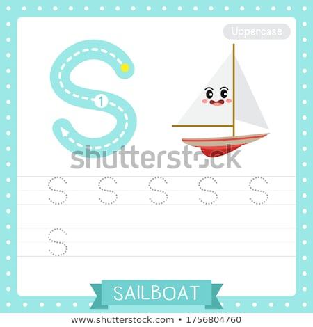 手紙 帆 実例 背景 芸術 教育 ストックフォト © bluering