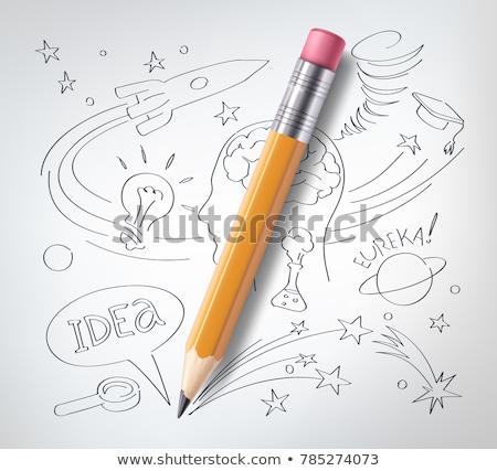 Zdjęcia stock: Proste · szkic · eksperyment · ilustracja · biały · tle