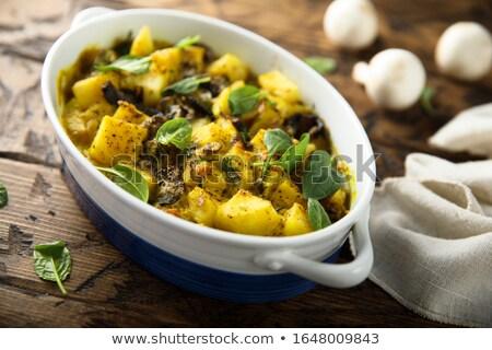 Rustico spinaci patate sfondo Foto d'archivio © zkruger