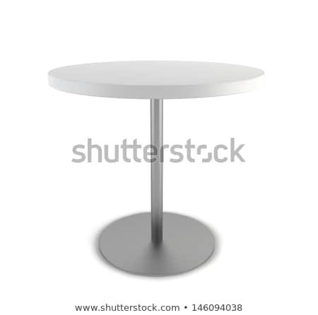 表 1 脚 テーブルクロス 孤立した カフェ ストックフォト © popaukropa