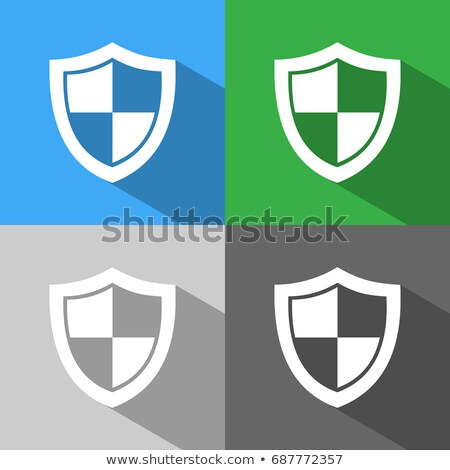 Unprotected shield icon with shade on colored backgrounds Stock photo © Imaagio