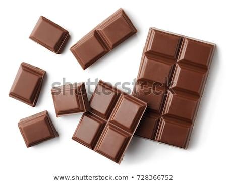 Close-up of white chocolate bar blocks Stock photo © deandrobot