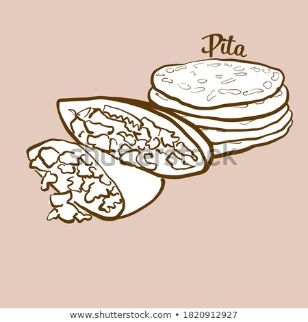 vector · pizza · illustratie · label · menu · icon - stockfoto © olena