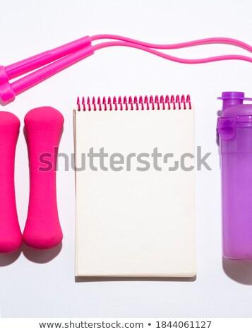 Notepad, rope and bottle Stock photo © wavebreak_media