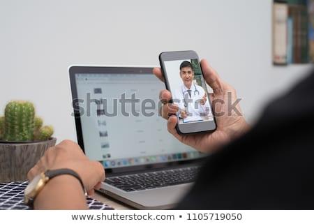 orvos · táblagép · beteg · kórház · egészségügy · technológia - stock fotó © wavebreak_media