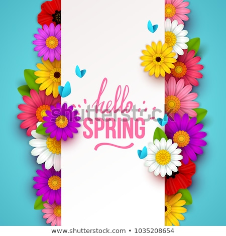 Spring Background with Colorful Flowers Stock photo © derocz