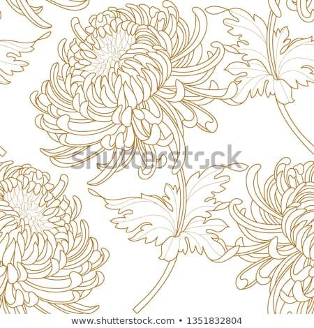 Virágmintás csempe minta virág vonal művészet Stock fotó © Terriana