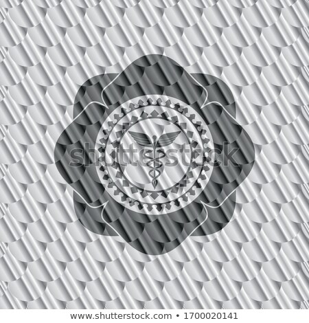 abstract silver caduceus sign Stock photo © pathakdesigner