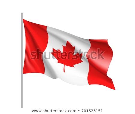 bandeira · Canadá · ilustração · 3d · tecido - foto stock © daboost