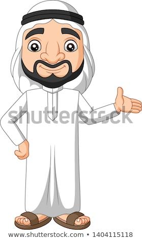 Cartoon Sheikh Waving Stock photo © cthoman