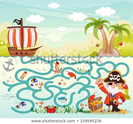 Karikatur Piraten Idee hat lächelnd Stock foto © cthoman