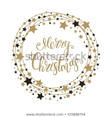 Siyah Noel star baskı vektör geometrik Stok fotoğraf © Olena