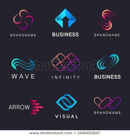 letter m arrows vector black icon sign Stock photo © blaskorizov
