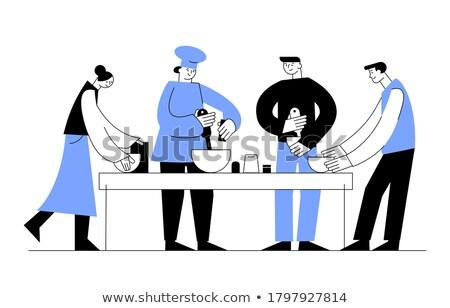 żywności blogging lądowanie strona zawodowych kucharz Zdjęcia stock © RAStudio